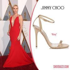 $795 NIB New JIMMY CHOO Nude MINNY Size 39 Sandals Heels Shoes