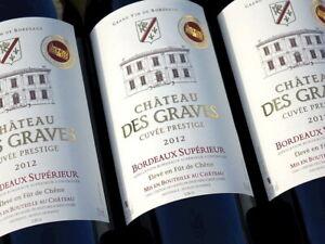 """Außerordentlich gut ! 12 Flaschen 2012er """"Cuvée Prestige"""" von Château des Graves"""