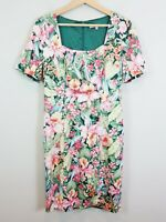 [ REVIEW ] Womens Floral Patterned Short Sleeve Dress | Size AU 12 or US 8