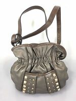 Kathy Van Zeeland Bronze Gold Studs Small Cross-Body Shoulder Bag Handbag