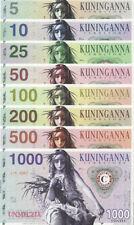 The Harvest Maven Banknoteset 5-1000 Fusto 2015  Unc Private, Specimen notes