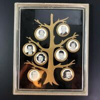 True Vintage Nu-Dell Art Deco Clear Acrylic Picture Frame Family Tree Photograph
