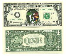SUPER MARIO & YOSHI VRAI BILLET 1 DOLLAR US ! Collection Jeu Vidéo Nintendo Bros