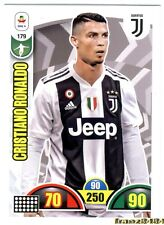 RONALDO Juventus ADRENALYN XL n°179 Calciatori PANINI 2018-19 NUOVA INTROVABILE
