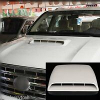 3D Air Flow Intake Front Hood Scoop Vent Bonnet Cover White Universal Car SUV