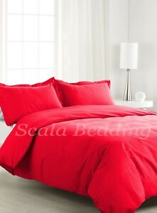 100% Egyptian Cotton 1000-TC 1 Piece Soft Duvet Cover All Sizes All Colors