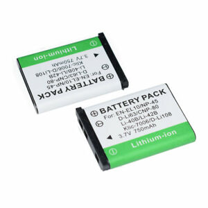 2pack BATTERY FOR FUJIFILM Finepix XP80, JV500, JX490 NP-45 NP-45A  NP-45S