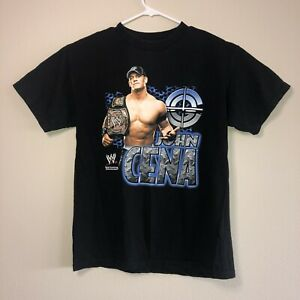 Y2K John Cena WWE WWF Wrestling Hybrid T Shirt Mens Medium Black Champion