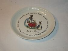 "Wedgwood Plate Peter Rabbit Collection Mrs. Rabbit 6""  Beatrix Potter"