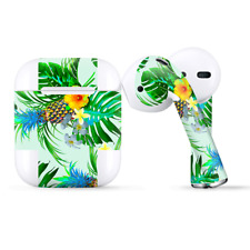 Skins Wraps compatible for Apple Airpods  tropical floral pattern pineapple palm