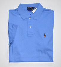 NWT Men's Ralph Lauren Short-Sleeve Jersey Polo Shirt, Blue, XL, X-Large