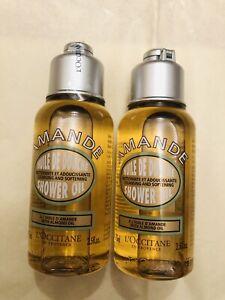 L'Occitane Almond Shower Oil Delicious Hydrate~75mlX2=150ml Travel Size