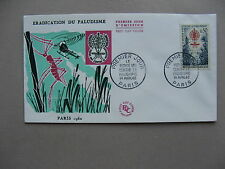 France, cover Fdc 1962, Malaria paludisme, insect (2)
