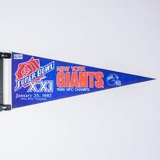 "Vintage Super Bowl XXI New York Giants 1986 NFC Champions 30"" Pennant"