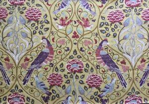 William Morris Curtain Fabric 'Seasons by May' 62cm Saffron - Linen Blend