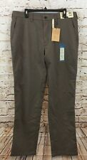 Haggar pants mens 36 x 34 performance flat brown Comfort Waist New no iron X3