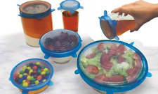 Containers Lids Air Tight 6 Fresh Tops Food Storage Wraps Spill Proof Seal Bowl
