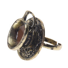 Finger Ring Adjustable Fashion R2C5 Metal Retro Coffee Tea Cup