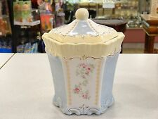 """AUTHENTIC VINTAGE """"SIMPLY SHABBY CHIC"""" PORCELAIN CAROUSEL COOKIE CANDY JAR"""
