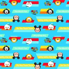 Mickey Minnie Pooh Tsum Tsum Do you Tsum Disney 100% Cotton Fabric by the Bolt