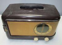 1947 STREAMLINE EMERSON TUBE RADIO BAKELITE MODEL 543 Brown Plastic