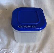 TUPPERWARE CLEAR MATES SMALL SQUARE FRIDGE MINI BLUE