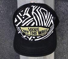 Vans Skateboard Black Zebra Unisex Snapback Hat One Size