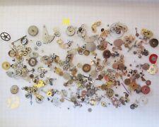 grande lotto stock ricambi ruota orologi lot vintage old watch spart clock wheel