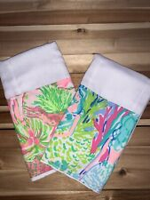 Set Of 2 Burp Cloths - Lilly Inspired