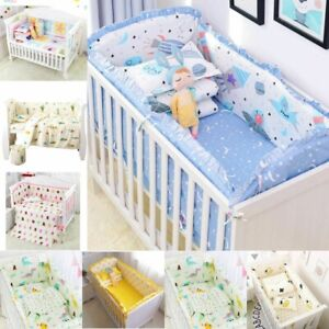Baby Bedding Set Crib Bed Linens Included Baby Cot Bumpers Bed Sheet Pillowcase