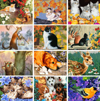 Animal Dog Cat Wall Decor On Canvas DIY Acrylic Paint By Number Kit Oil Painting