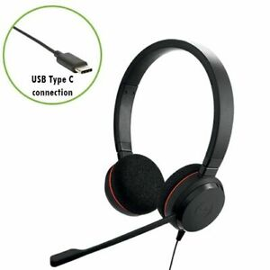 Jabra Evolve 20 UC Stereo Headset Corded USB-Cable with Controller, 4999-829-289