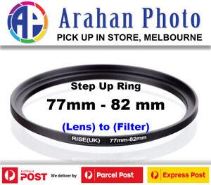 Step Up Ring 77-82 Filter Lens Adapter 77mm Filter to 82mm Lens