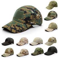 Adults Camo Snapback Baseball Cap Men Women Military Tactical Combat Sun Hat New