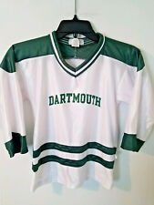 DARTMOUTH Hockey Jersey KIDS YOUTH Size S SMALL (6/8) WHITE with Green RARE NCAA