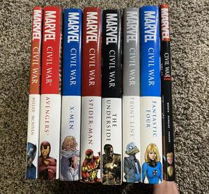 Marvel Civil War & Civil War II Hardcover - Complete Set