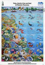 Palau 2016 MNH World of Sea & Reef Phil Panorama NY2016 40v MS Fish Coral Stamps
