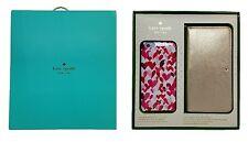 Kate Spade NY Gift Set Box iPhone 6Plus & 6SPlus Gold Wristlet & Hearts Case
