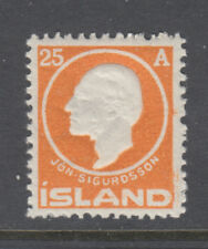 Iceland Sc 91 Jon Sigurdsson 25 Aur Orange Mint Never Hinged