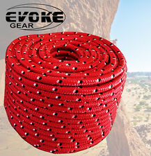 "Evoke Gear Tree Climbing 1/2""X 150' Double Braided 100% Polyester 16 Strand Rope"