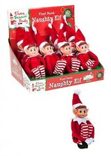 12 x Naughty Elf  With Vinyl Face Elves behavin badly with tags
