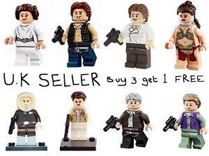 Han Solo & Leia Star Wars Minifigure Princess Leia Lego & Custom Mini Figure