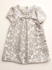Toddler Party Dress - Special Occasion - Luli & Me Floral Grey Jacquard (2T)