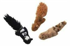 "(THREE TOYS) SPOT SKINNEEEZ CAT STUFFINGLESS FOREST 3"" CAT TOY. FREE SHIP IN USA"