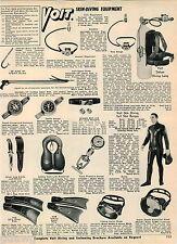 1968 ADVERT Voit Skin Diving Lumg Suit Spear Gun Canadian Flyer Hockey Skates