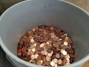 $120 Face Value Bulk Zinc Pennies. Real U.S. Coinage! Nice Money, Lincoln 65 LBS