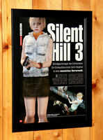 Silent Hill 3 Rare Small Poster / Vintage Ad Page Framed PS2 PlayStation Konami.