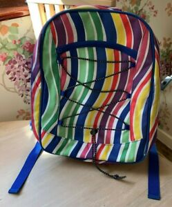 Picnic Backpack Striped Fabric Empty