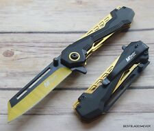 7.75 INCH MTECH TACTICAL SPRING ASSISTED KNIFE WITH POCKET CLIP