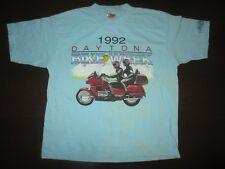 Rare Vtg 1992 DAYTONA BIKE WEEK Honda Suzuki Yamaha Jim Walker Motorcycle Shirt